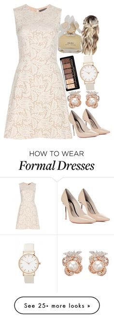 """Formal Outfit #2"" by amazin-maze on Polyvore featuring Alexander McQueen, Sophia Webster, Anabela Chan, Marc by Marc Jacobs, dressy, party, formal and beige"