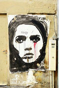 Konny - street art - paris 6 rue de seine - aout 2013