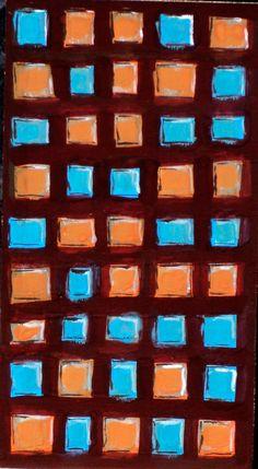 PINTURA - Antonio Abril - Colección: EDIFICIOS - Titulo: Edificio 6 - Técnica: Tempera  - Formato: 30 x 42 cm - Madera - ART MODERNE ET CONTEMPORAIN.