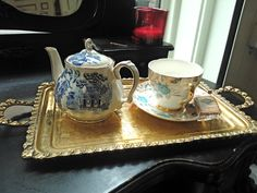 My hair salon serves tea to clients in style... Taylor Taylor in Spitalfields.