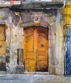 """Doorway - Lodeve Fr."" - Original Fine Art for Sale - © David Morris"