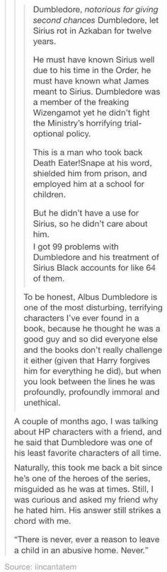 I don't hate Dumbled