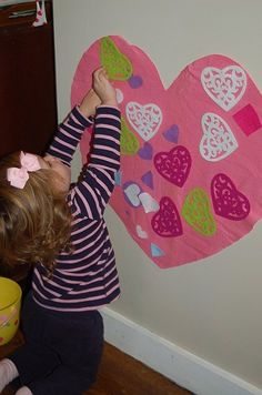 Valentine Felt Heart - the latest adaptation of the Christmas tree; so fun to continually decorate.