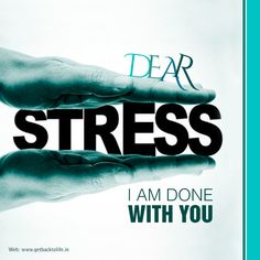 Let's breakup with #stress under the best treatment and care at Get Back to Life.