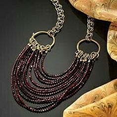 This technique on a different chain, leather, beaded/ different lengths...