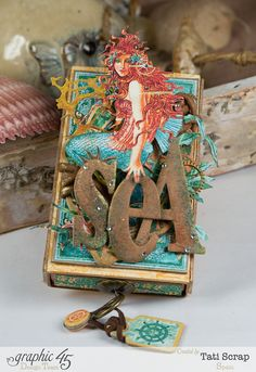 Tati,Voyage Beneath the Sea, Mini Album in a Matchbox , Product by Graphic 45, Photo 2