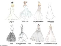 Everything you ever wanted to know about wedding dress silhouettes waistlines junglespirit Image collections