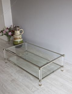 Antiques Atlas - French Lucite And Nickel Coffee Table Conservatory Furniture, Antique Desk, Table Storage, Coffee, Retro, Antiques, Glass, Shops, French