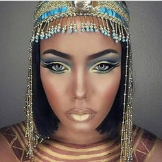 "71 Likes, 6 Comments - Brush Up Beauty (@brushupbeauty) on Instagram: ""#halloweenmakeup for the gods! Badass Cleopatra makeup by @joleanmua!"""