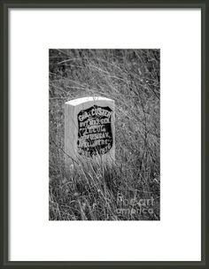 Custer Fell Here Framed Print By Debra Martz  www.debramartz.com #CustersLastStand #LittleBighorn