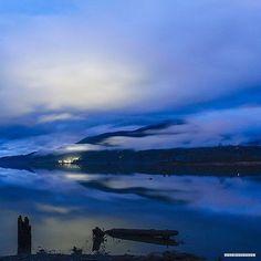 Beauty shot of the full moon by @petesaloutos. ✨ #fullmoon #hoodcanal #explorehoodcanal #wildsidewa #blue #vacation #nature #pnw #washington #love #moonlight