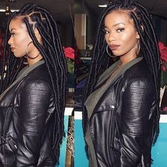 For your next new protective hairstyle, we're telling you how to do faux locs and showing our fave long and short faux locs styles using Marley hair and more. Faux Locs Hairstyles, My Hairstyle, Black Girl Braids, Girls Braids, Marley Twists, Faux Locs Styles, Crochet Braids Marley Hair, Curly Hair Styles, Natural Hair Styles