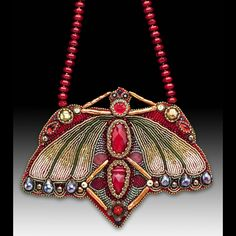 41. Kathleen Caid combines a variety of materials with beads to produce stunning jewelry pieces. www.antiqueartistry.com