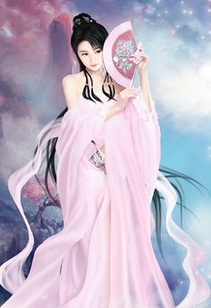 Coloring for adults - Kleuren voor volwassenen Chinese Picture, Chinese Art, Geisha Art, Beautiful Fantasy Art, Poster S, Fantasy Girl, Beauty Art, Asian Art, Japanese Art