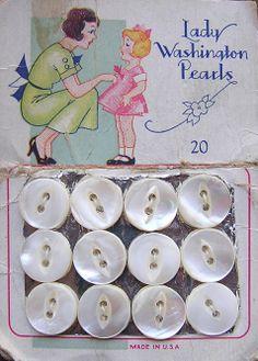Vintage Buttons | Vintage Thingies Thursday – vintage pearl button cards | Bowerbirdz