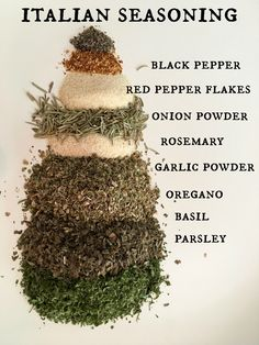 Homemade Italian Seasoning - Simple Sojourns Mix all the ingredients together and store in an air tight jar. You can add more of 'this' and less of 'that' adjusting the recipe to your taste. Homemade Italian Seasoning, Homemade Spices, Homemade Seasonings, Homemade Ranch, Homemade Dry Mixes, Spice Blends, Spice Mixes, Spice Rub, Beste Reisezeit Thailand