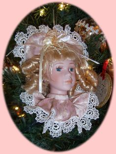 Victorian Christmas Doll Tree Ornament Decoration Victoria  Offered by #AntiqueTissueCovers