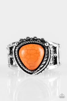 925 Silver Overlay Antique Look Ring Size 6 New Latest Technology Jewelry & Watches Orange Copper Turquoise Gem
