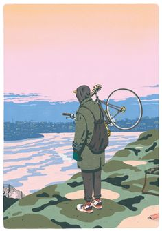 From Stockholm-based illustrator Jeff Östberg. Love his colours and textural qualities - it's like digital watercolour.