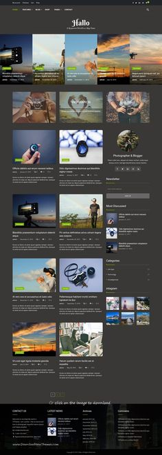 Hallo is clean and modern design 3in1 responsive #WordPress theme for lifestyle #blog and #bloggers website to download 👉click on image.