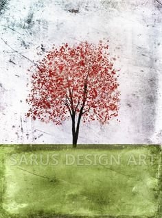 Color+Tree+Series++Light+Green++11x14+by+sarusdesignart+on+Etsy,+$35.00