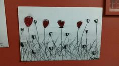 Poppies - oil pastel and charcoal.  grade 4