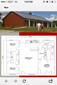 Small pole barn homes are you thinking about building one? We can help you find companies that build pole barn homes in your area. Metal House Plans, Pole Barn House Plans, Shop House Plans, Barn Plans, New House Plans, Small House Plans, House Floor Plans, Pole House, Morton Building Homes