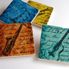 perfect coasters for the music enthusiast or music lover!
