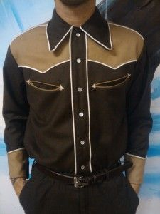 Want one! Men's Western Shirt 1949 (simplicity 3054) Will deffo make something similar before the year is out....but might need to source a pattern and think about the peculiarities of my shape.