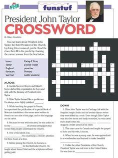 LDS Games - Crossword Puzzles - John Taylor