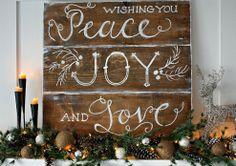 Rustic Christmas Mantel :: Hometalk