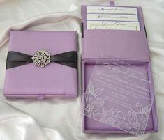 See Through Acrylic with Brooch Pocket Wedding Invitation