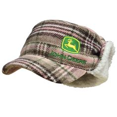 John Deere Flannel Engineer Cap with Sherpa Lining