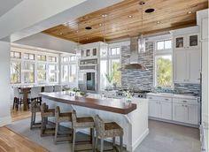 Large kitchen design ideas! Find more at Home and Garden Design…