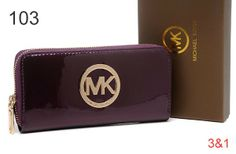 Michael Kors Mirror Metallic Circle Logo Purses Dark Purple