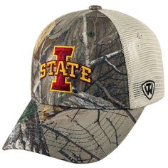 Adult Top of the World Iowa State Cyclones Prey Camo Adjustable Cap, Men's, Green Oth