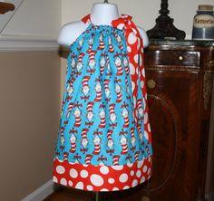 Dr Seuss pillowcase dress