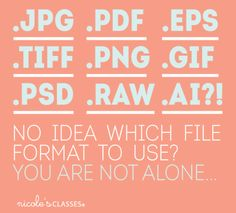 Not sure which file format to use when? Let Nicole's Classes quick and easy guide help! via Nicolesclasses.com