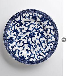 Decorating with pattern: Ralph Lauren Mandarin blue salad plate