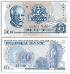 Noruega - 10 coronas 1979 #banknote #norway #Noruega