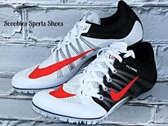 Nike Zoom JA Fly 2 Sprinters Track Running Spikes Size 8 White/Black/Atomic Red  #Nike #TrackSprintersRunningSpikes