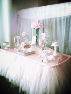 Blush and Champagne Candy Buffet- white filter- C and C Candy Buffets Pittsburgh PA
