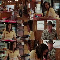 Tim: I hate to interrupt, but the couple at the table need service. I heard u're throwin' a big party.  Jade: So? I'm making enough money. Don't worry about it.  Tim: That's what I thought too when I got my first sponsor, & then halfway through the rodeo season I was outta cash, not to mention the partying lifestyle...  Jade: Tim... Tim:  I'm just sayin', I no all about this. It's not a good path.  Jade: It's not like I'm living this crazy rock n' roll lifestyle. Tim: The table! (10x08)