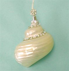 Beach Christmas Ornament Seashell with Swarovski Crystals on Etsy, $25.00