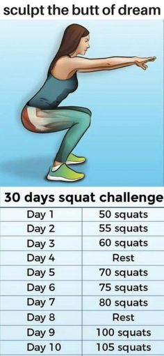 78 Best 30 Day Squat Challenge images in 2018 | 30 day