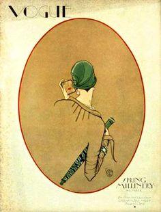 Porter Woodruff, Vogue, magazine cover, March 01 1926 by Gatochy. @Deidra Brocké Wallace