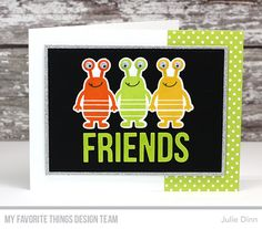 More Monsters Stamp Set and Die-namics, Words for Friends Die-namics, Rectangle STAX Die-namics - Julie Dinn #mftstamps