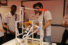 Helping the adi Apprentices with the Marble Challenge Event...  #adiGroup #Engineering #UKMfg
