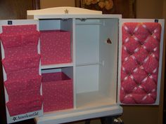 American Girl Doll Armoire - going to hack this idea for sure!