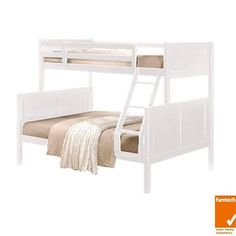 Made of solid rubberwood timber with laminated timber slats for long lasting use. This bunk bed is separatable into a single bed and a double Height. Trio Bunk Beds, White Bunk Beds, Timber Slats, Bedroom Furniture, Furniture Layout, Double Beds, House, Home Decor, Bed Furniture